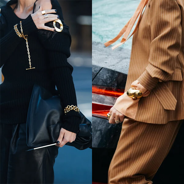 Fall 2020 Fashion Trend - Wearing Bracelets Over Clothes