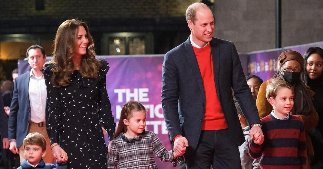 Rare shot: Kate Middleton and Prince William with three children appeared on the red carpet 36