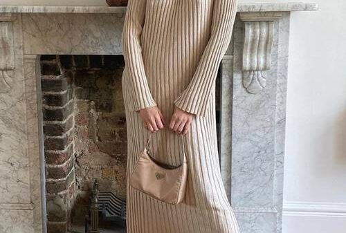 "Super Warm knitted dresses 2021 and high boots are our ""uniform"" for cold weather 36"